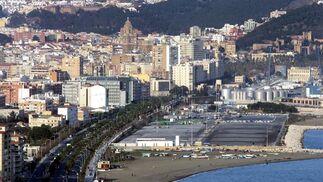 Málaga a vista de chimenea