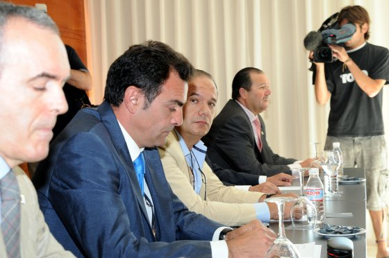 Durante la rueda de prensa celebrada en el Hotel AC.