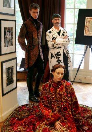 Colección de alta costura de  Franck Sorbier.  Foto: EFE