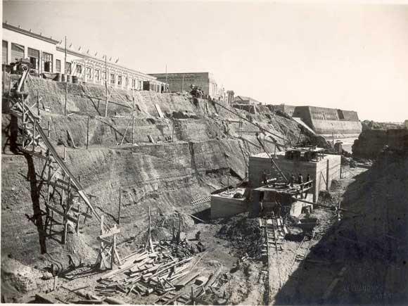 1944. Muelles del Campo del Sur