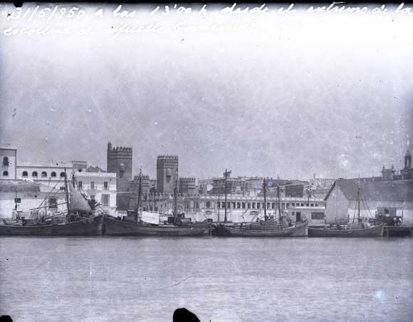 1950. Otra vista del puerto de El Puerto de Santa María
