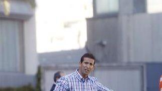 Juan Merino hace una indicación a sus jugadores en el primer periodo.  Foto: Juan Carlos Toro