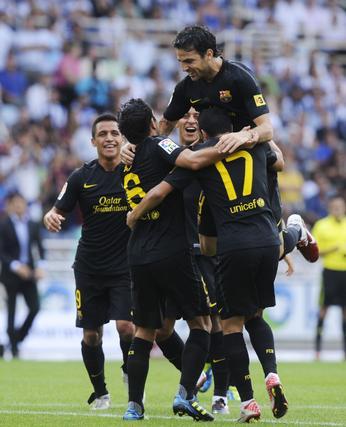 El Barcelona 'pincha' por primera vez en la temporada ante la Real Sociedad. / Reuters