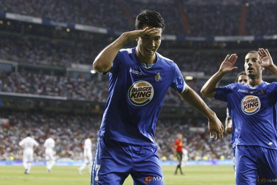 Miku celebra el primer gol getafense. / EFE