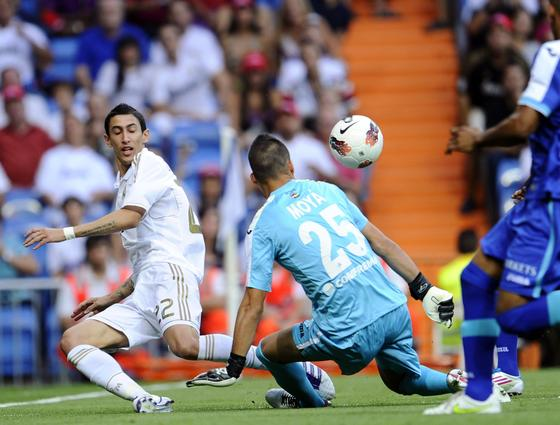 El Real Madrid cumple ante el Getafe en el Bernabéu (4-2). / AFP