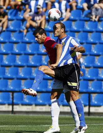 El Recreativo consigue su primera victoria de la temporada en Alicante (0-1). / LOF