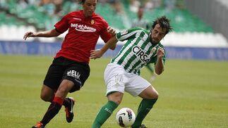 El Betis gana el segundo partido de su regreso a Primera gracias a un gol de Rubén Castro (1-0). / Antonio Pizarro