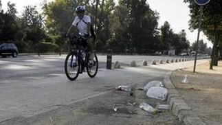 Paisaje después de la batalla en el parque.  Foto: Juan Carlos Vázquez