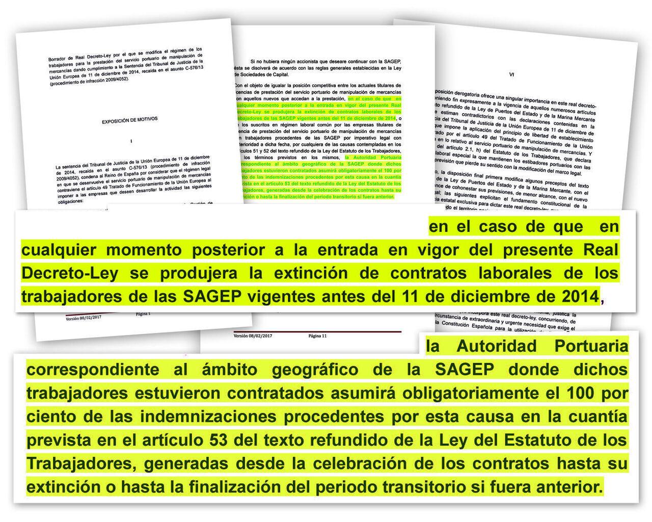 El decreto de la estiba carga sobre los puertos los costes en caso ...