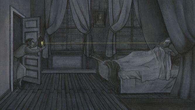 Una de las ilustraciones de María Espejo para 'El corazón delator'.