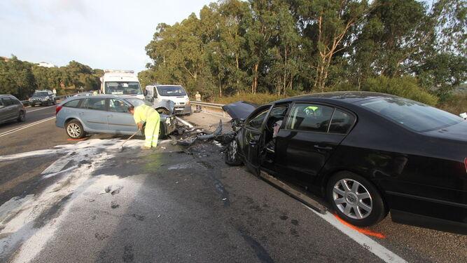 Accidente en la N-340, carretera que se prevé desdoblar.