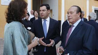Carmen Tello, Juan Manuel Moreno y Curro Romero.