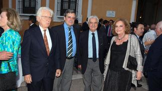 Rafael Atienza, Víctor Pérez Escolano, Francisco Baena y Amparo Rubiales.