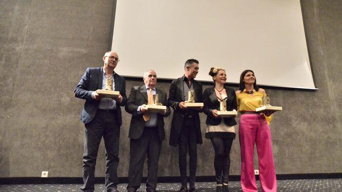 Emilio Borrego (en representación de Ignacio Borrego), Antonio Pérez Carmona, Ángel Garó, Raquel Ñeco y Desireé Márquez.
