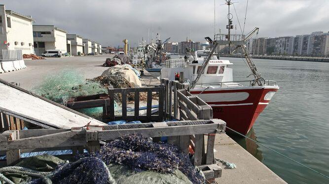 Un pesquero atracado en el muelle de Algeciras.