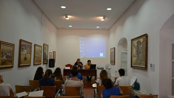 Alumnos del seminario sobre equitación y discapacidad.