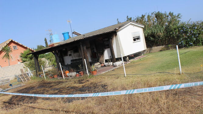 Imagen del estado de la casa donde se produjo el suceso.