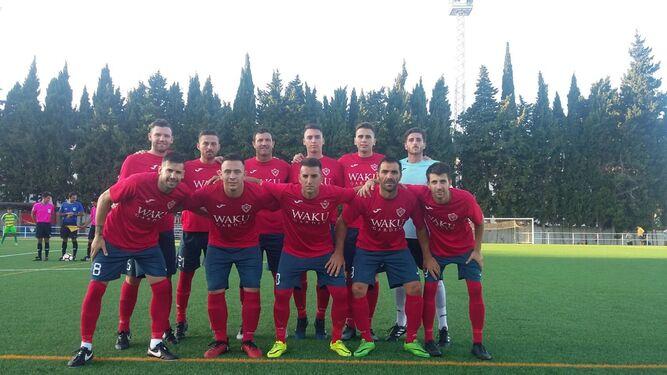 Las formación inicial del CD Guadiaro, ayer en La Unión.