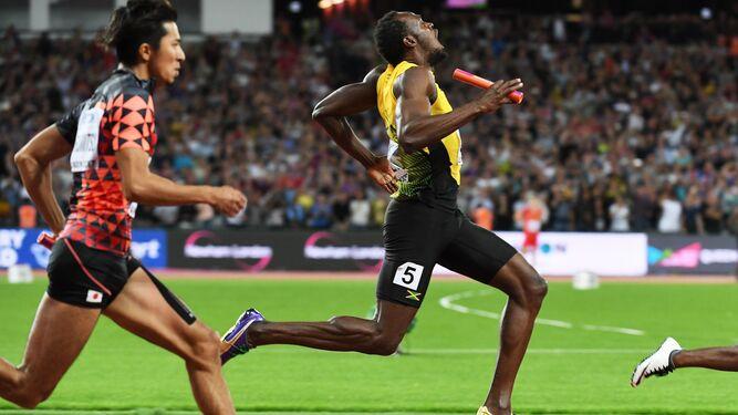 El jamaicano, en el momento de su lesión.