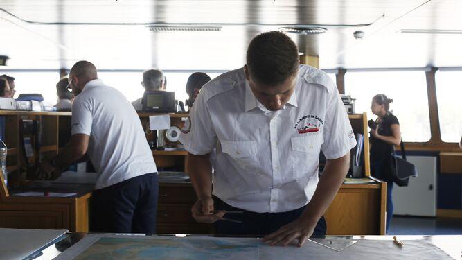 Interior del Buque Oceanográfico 'Sarmiento de Gamboa'.
