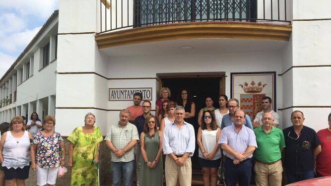 Vecinos y autoridades, en Castellar.
