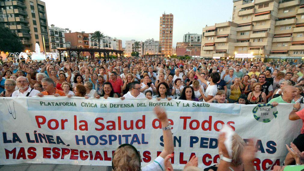 Manifestación por la sanidad pública en La Línea