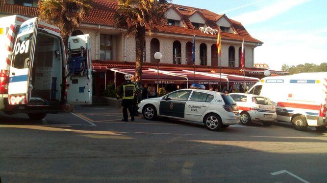 Una decena de turistas malagueños intoxicados por monóxido de carbono en un hotel cántabro