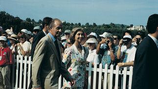 Juan Carlos I y la reina Sofía, en Valderrama.