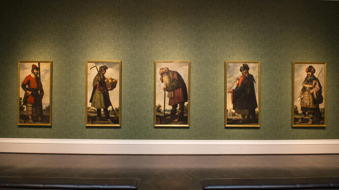 Obras de la serie, con el retrato del patriarca Jacob en el centro, en el Meadows.
