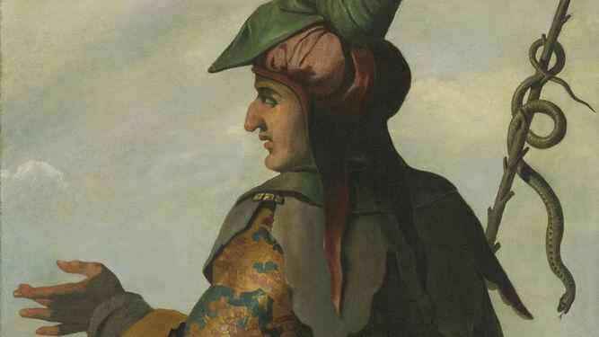 Detalle de 'Dan', óleo sobre lienzo pintado por Zurbarán y taller ( 1640-45).