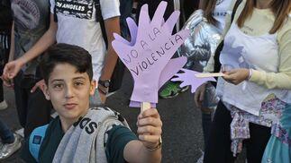 Manifestación contra la violencia de género en Algeciras