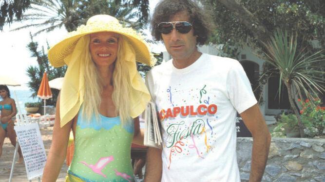 Gunilla y Luis Ortiz, a mediados de los 80.