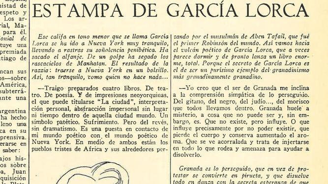 Escena de El maleficio de la mariposa, en el teatro Eslava de Madrid, en 1920.