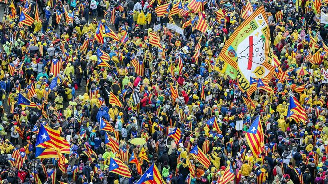 Marcha independentista en Bruselas
