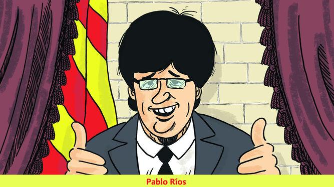 El 'President Puigdemont', en el lápiz de Pablo Ríos.