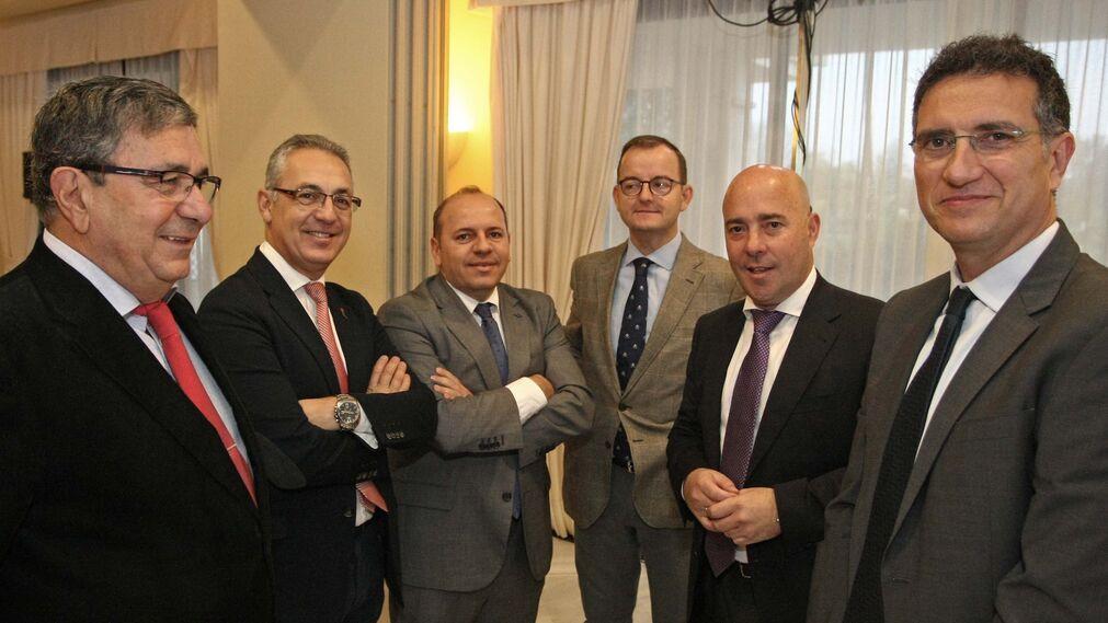Juan Antonio Palacios, Juan Lozano, Sebastián Fernández, Francisco Arroyal, Ignacio Macías y Javier Chaparro.