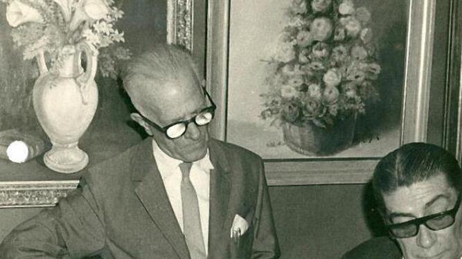 Juan Sabadell, presidente, y Alfonso Cruz Herrera, alcalde y presidente de honor.