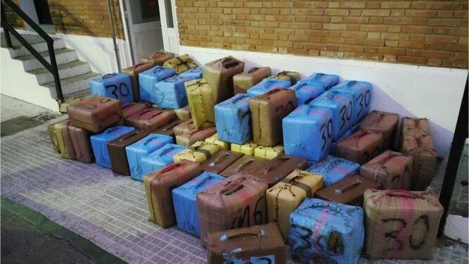 Droga intervenida en la operación 'Mapuche' de la Guardia Civil.