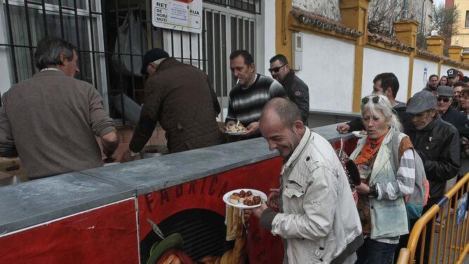 La Chorizada que se celebró en la Peña Ferroviaria de Algeciras.