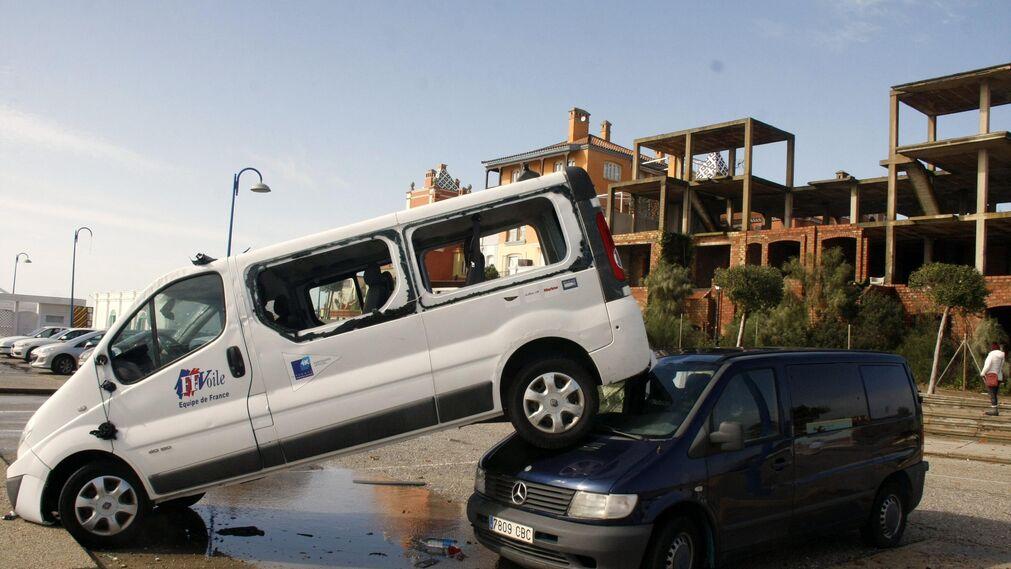 Estado que presenta Puerto Sherry tras el paso del tornado