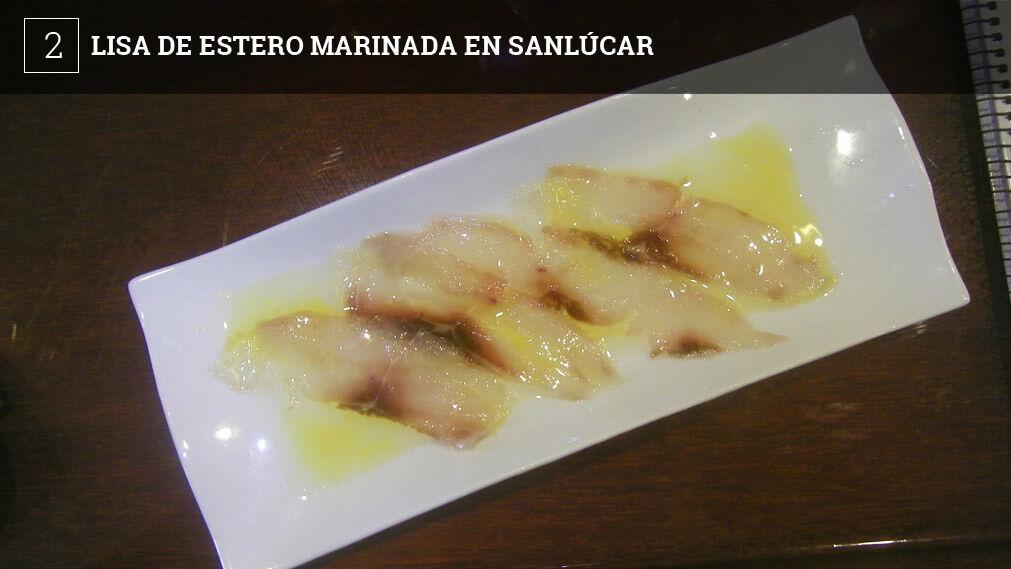 El Mirador de Doñana, situado en la zona de Bajo de Guía, en Sanlúcar, ofrece una tapa bastante interesante y son unas finas lonchas de lomo de lisa de estero marinadas.