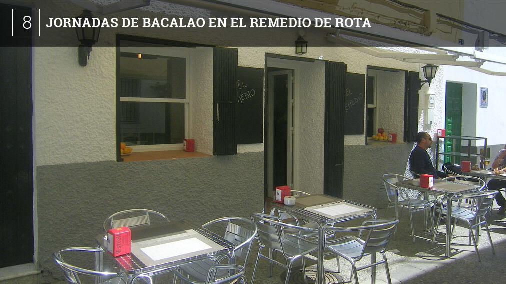 El bar El Remedio de Rota, situado en la calle Mina, ofrece desde hoy viernes y hasta el domingo unas jornadas gastronómicas dedicadas al bacalao, uno de los productos más característicos de la Cuaresma.