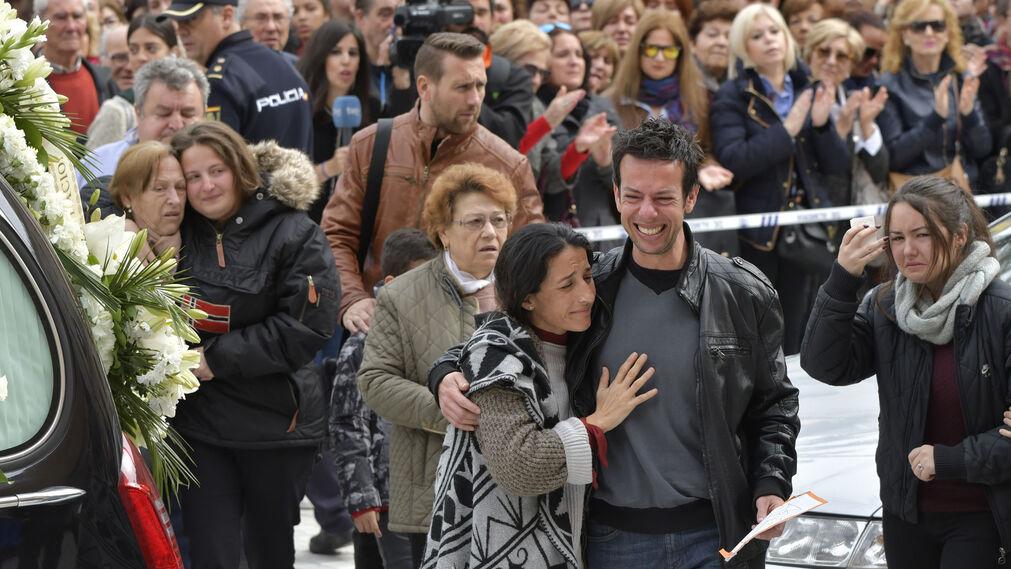 El funeral de Gabriel, en imágenes