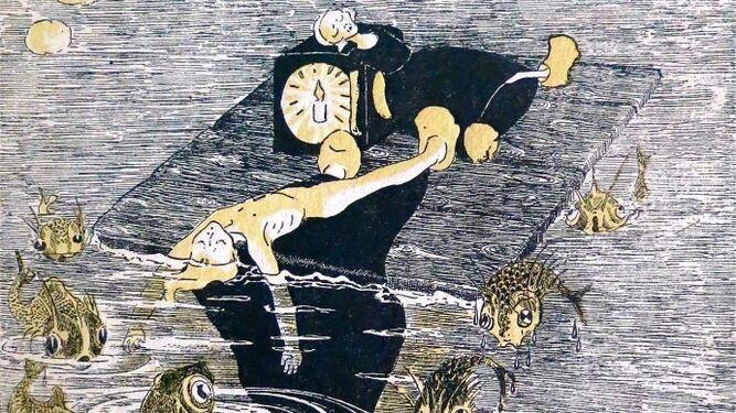 Con 12 años ilustró así el cuento de su hermana Consuelo, 'El niño de oro'.