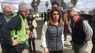Visita de Susana Díaz al operativo.