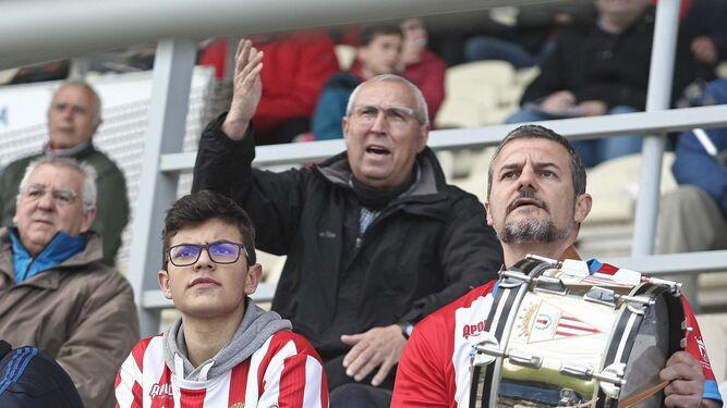 Nacho y David Pérez, el pasado domingo en el Nuevo Mirador.