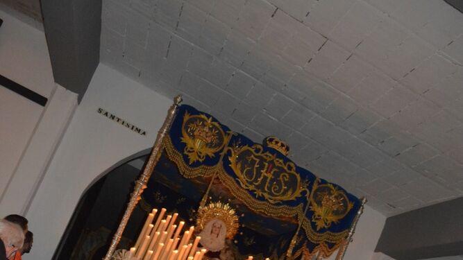 Nuestra Señora de la Merced, cotitular del Medinaceli sanroqueño.