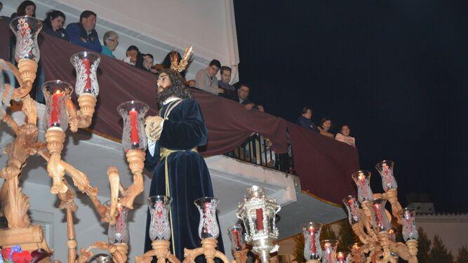 La imagen del Medinaceli de San Roque, tras su salida desde Los Olivillos.