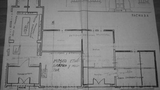 Planos de la antigua sede del Archivo Histórico Municipal.