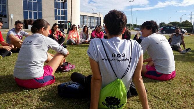 Una imagen del taller de Vida Saludable desarrollado en el Campus de Puerto Real.